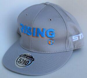 STX Rising 3D Lacrosse Baseball Cap Hat Adjustable Snapback Structured Gray