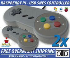 2x Super Nintendo SNES USB Controller GAME PAD For PC Mac Raspberry Pi RetroPi