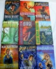 ALAN DEAN FOSTER - 9 OF HIS PIP AND FLIX ADVENTURE SERIES IN 1st EDITIONS