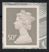 GB 2010 sg U2917 50p Grey Type 2 MA10 MPIL s/a George V booklet stamp MNH