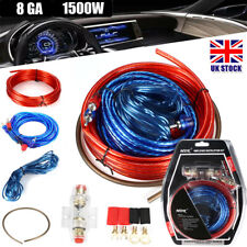 Car Amplifier Cable Subwoofer Wiring Power AMP RCA Wire Kit Audio 1500W 8GAUGE