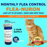 2 YEAR SUPPLY Monthly Flea Control for CATS 2-20 Lbs. 24 Capsules PB 205 Mg