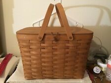 Longaberger large picnic basket in excellent condition with pie safe