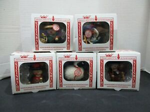 5 Steinbach Handmade Wooden Christmas Ornaments Made in Germany