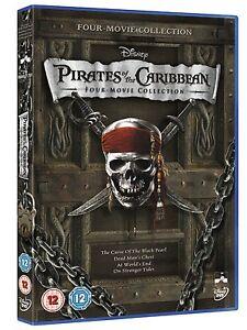 Pirates of the Caribbean Quadrilogy 1 - 4 DVD Box Set 4 Discs New & Sealed R4