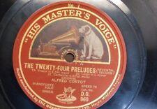 "78rpm 12"" ALFRED CORTOT - chopin preludes 19 - 24 [ sides 7 & 8 ]"