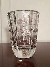 "Vintage Signed ORREFORS Crystal Glass Thousand Windows 7"" Tall Vase Simon Gates"