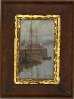 Ethel M.L. Kendall (1877-1960) - 1903 Watercolour, Coastal Scene with Figures