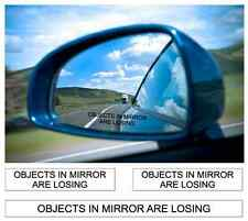OBJECTS IN MIRROR ARE LOSING DECAL STICKER REAR VIEW MIRROR DECALS STICKERS JDM