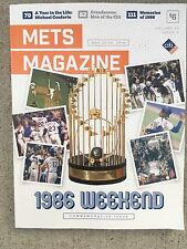 NEW YORK METS PROGRAM 1986 WORLD SERIES 30th COMMEMORATIVE ANNIVERSARY ISSUE