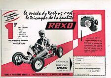 J- Publicité Advertising 1960 Moteur Karting Rexo