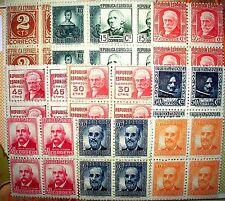 BC5.r  ▀# B4 731 a 740 MNH** PERSONAJES coleccion completa, bloques de 4 buenos