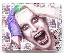 The Joker Suicide Wallet purse Bifold Credit cards id window Jared Leto 3 cards