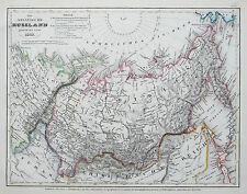 1849 Russia Siberia Genuine Antique Map Hand Colouring Meyer