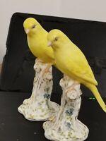 VERY RARE VINTAGE ROYAL WORCESTER ENGLAND BIRD CANARY 2665 x2