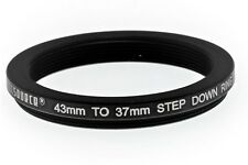 43-37mm Step down Filter ring - Black Aluminium - UK
