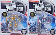 Set 2 Transformers Optimus Prime Bumblebee Dark Moon LIGHT-UP Keychains Keyrings