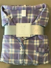 Adonna Pajama Set, XXL.  New, with tags.  Polyester Fleece.  Purple Plaid