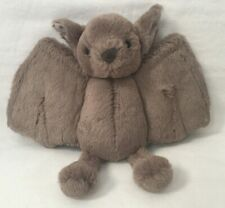 Rare Jellycat London Baby Bat Plush Brown Stuffed Animal Soft Toy 8x10