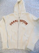 Charleston Cougarl Off-White Sweater with Hood ~ Size Medium