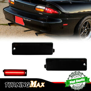 Smoked Black Lens Rear Bumper Side Marker LED Lights For 1993-2002 Chevy Camaro