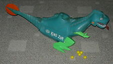 IDEAL  KING ZOR  C. 1962  ARMS AND LEGS INTACT  PLUS  5 BALLS  DINOSAUR