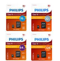 Philips 16gb 32gb 64gb 128gb Micro SD Class 10 UHS-I Tarjeta de Memoria 80MB/s