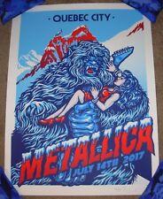 METALLICA concert gig poster QUEBEC 7-14-17 2017 Tour Ames Bros Reg Variant