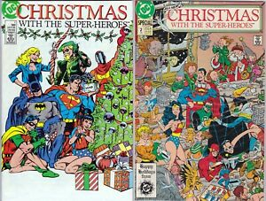 DC - Christmas With The Super-Heroes #1, #2 Specials 1988, 1989 JLA, LSH, Batman