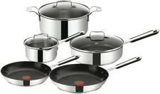 NEW Tefal E763S544 Jamie Oliver Stainless Steel Mediterranean 5 Piece Set