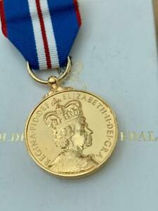Boxed Royal Mint Queen's Golden Jubilee Medal With C.O.A.