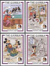 Gambia 1985 Disney/Mickey Mouse/Minnie/Goofy/Cartoons/Animation 4v set (b4165a)