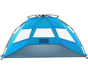 Tagvo Pop Up Beach Tent Sun Shelter Easy Set Up Tear Down Portable Instant Be...