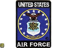 US Air Force Iron On Patch 2 x 2.75 inch Free Shipping Military Veteran Biker