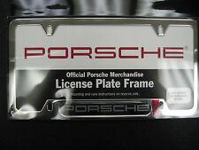 Porsche Polished Stainless Steel Plate Frame-Porsche PNA70200900