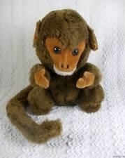 Vintage R. Dakin Plush Brown Monkey Chimpanzee  Velveteen Face/Hands Wired Tail