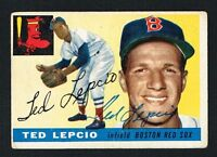 Ted Lepcio #128 signed autograph auto 1955 Topps Baseball Trading Card