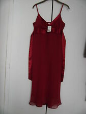 NEW LOOK CALF LENGTH STRAPPY RED DRESS SIZE 12 BNWT