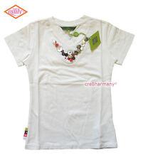 Oilily ✿ NWT ✿ Girls White Buttons Top Tee sz 116 / 5 - 6 ✿ European Designer ✿