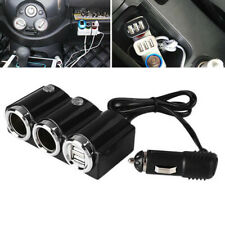 2 Way Cigarette Lighter Socket Splitter Power Adapter Dual USB Car Charger