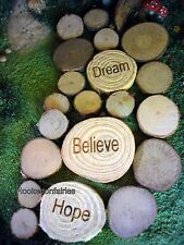 Miniature Wood chip Stepping Stone Pathway 33 pcs MG WC 4 Fairy Garden Dollhouse