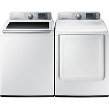 Samsung Top Load 4.5 Washer & 7.4 Electric Dryer Set WA45H7000AW DV45H7000EW