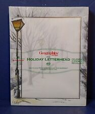 """Lamppost Christmas Holiday Letterhead, 8.5"""" x 11"""", 40Ct ~ Free Shipping"""