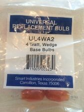 Universal Wedge Base Light Bulbs, Clear, 4-watt, 2-Pack Red!