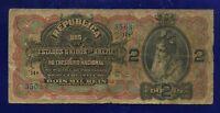 Brazil Banknotes 2 Mil Reis 1918  P19A ( ZELLA)  VG++ GRADE 3503 ES-2