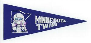 """1960's Minnesota Twins mini pennant 9"""" vintage felt original old logo"""