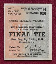 1951 FA CUP FINAL ticket stub - Newcastle United v Blackpool