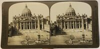 Roma Place Saint-Pierre Italia Foto Stereo P49p1n Vintage Analogica 1902