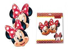 x 6 Minnie Mouse Disfraz Tarjeta Máscaras - Disfraz Relleno Bolsa Fiesta Máscara