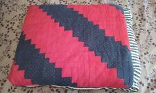 Red, White and Blue Cotton Pillow Quilt